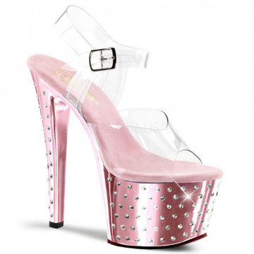 Pleaser STARDUST-708 Clr/B. Pink Chrome