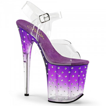 Pleaser STARDUST-808T Clr/Purple-Clr