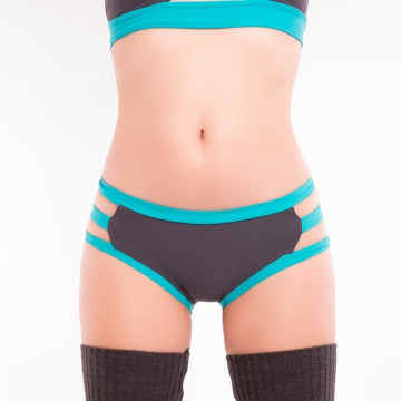 Pole Candy Wear - Shorts Emily. Grey Turquoise disponibile subito