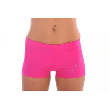 WINK POLE Lycra Hotpants with Diamante Detail W0110