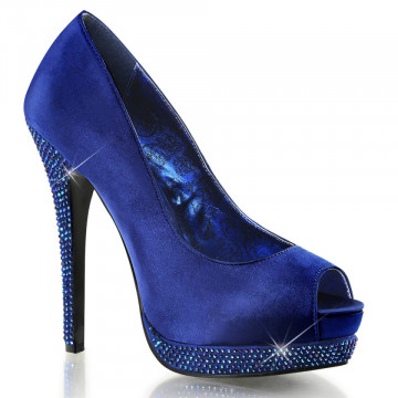 Bordello BELLA-12R Royal Blue Satin