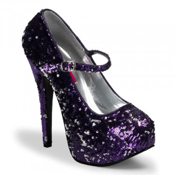 Bordello TEEZE-07SQ Purple-Slv Sequins