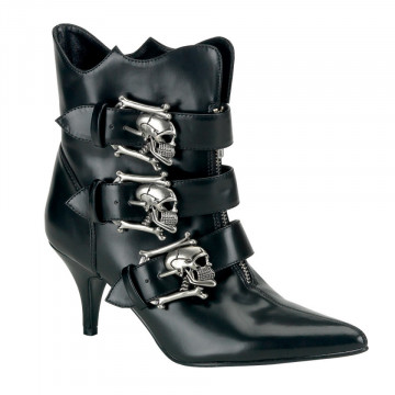 Demonia FURY-06 Blk Nappa Vegan Leather