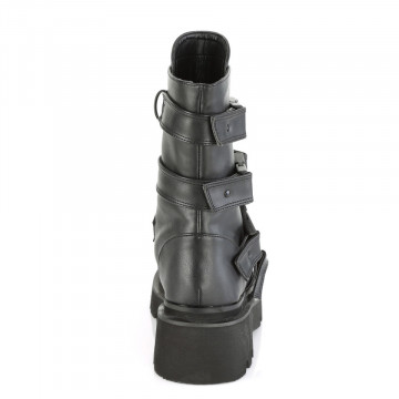 Demonia RENEGADE-55 Blk Vegan Leather