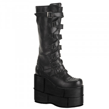Demonia STACK-308 Blk Vegan Leather