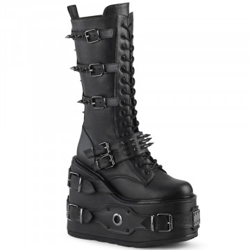 Demonia SWING-327 Blk Vegan Leather