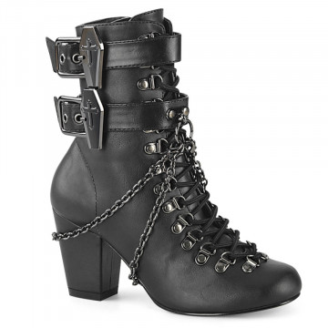 Demonia VIVIKA-128 Blk Vegan Leather