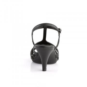 Fabulicious BELLE-322 Blk Faux Leather/Blk Matte