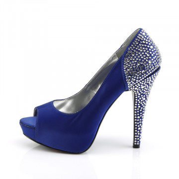 Fabulicious LOLITA-08 Royal Blue Silk Satin