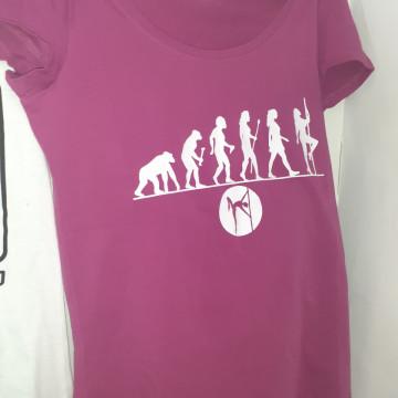Ipole Maglietta Viola T-shirt Evo Pole sport danza running