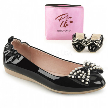 Pin Up Couture IVY-09 Blk Pat