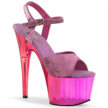 Pleaser ADORE-709MCT Purple Crushed Velvet/Dual Tinted