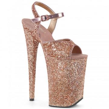 Pleaser INFINITY-910LG Rose Gold Glitter/Rose Gold Glitter