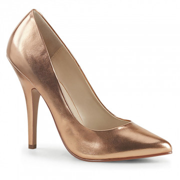 Pleaser SEDUCE-420 Rose Gold Metallic Pu