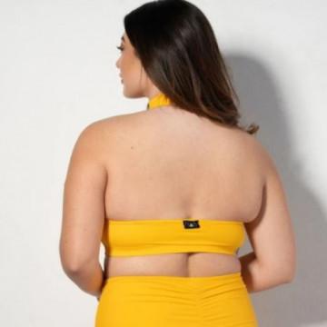 RAD pole wear Eve top licra - yellow spedizione 24 ore