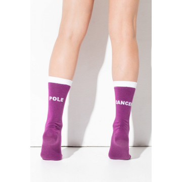 RAD WEAR POLE DANCER SOCKS viola consegna subito