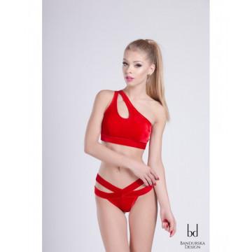 Bandurska Design - Daisy Short velluto rosso