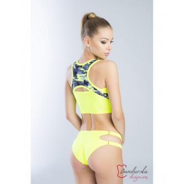 Bandurska Design - Lemon Cupcake Crop Top