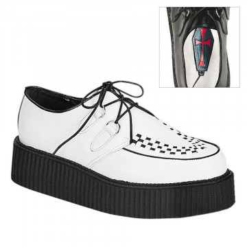 Demonia CREEPER-402 Wht Leather