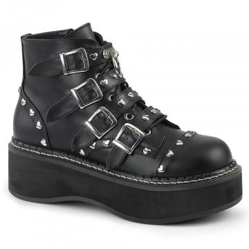 Demonia EMILY-315 Blk Vegan Leather