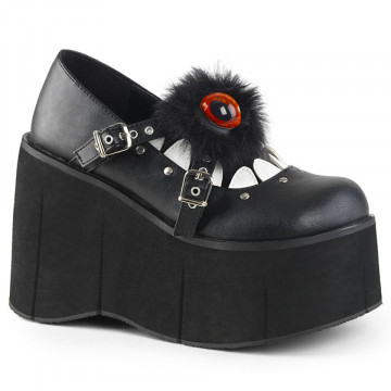 Demonia KERA-11 Blk-Wht Vegan Leather