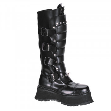 Demonia RAVAGE-II Blk Leather