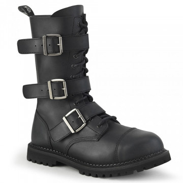 Demonia RIOT-12BK Blk Vegan Leather