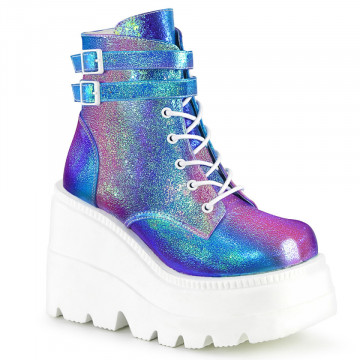Demonia SHAKER-52 Purple Multi Iridescent Vegan Le