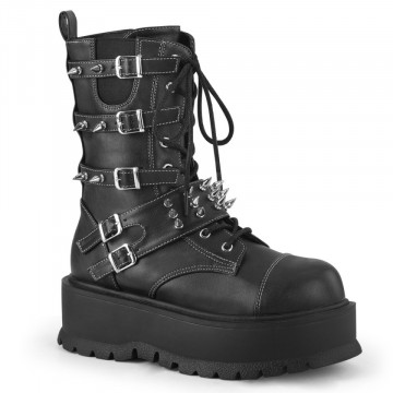 Demonia SLACKER-165 Blk Vegan Leather