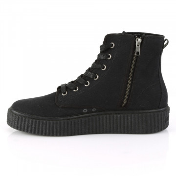 Demonia SNEEKER-201 Blk Canvas