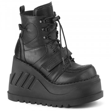Demonia STOMP-13 Blk Vegan Leather