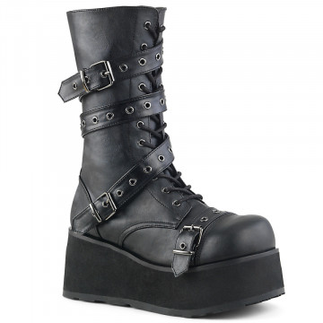 Demonia TRASHVILLE-205 Blk Vegan Leather