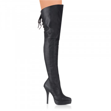 Devious INDULGE-3011 Blk Leather (P)