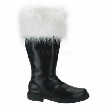 Funtasma SANTA-108 Blk Pu-Wht Faux Fur