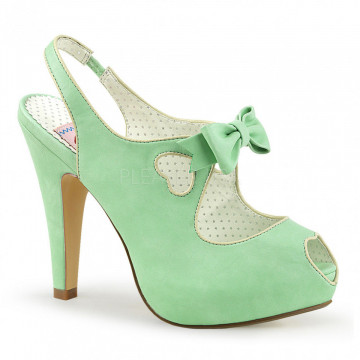 Pin Up Couture BETTIE-03 Mint Faux Leather