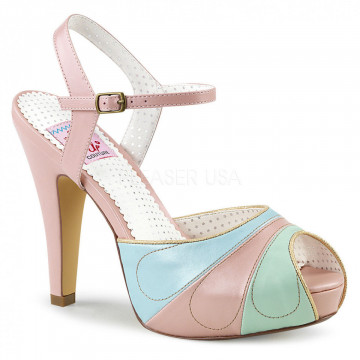 Pin Up Couture BETTIE-27 Pink Multi Faux Leather