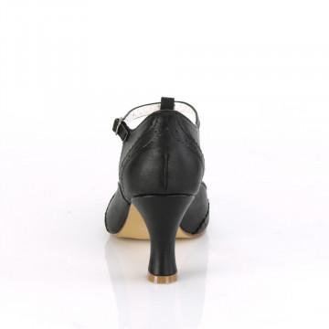 Pin Up Couture FLAPPER-26 Blk Pu