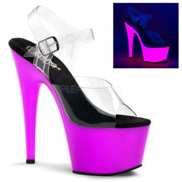 Pleaser ADORE-708UV Clr/Neon Purple