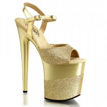 Pleaser FLAMINGO-809-2G Gold Glitter/Gold-Glitter