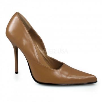 Pleaser MILAN-01 Camel Leather