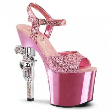 Pleaser REVOLVER-709G B. Pink Multi Gltr/B. Pink C
