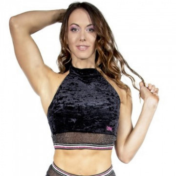 Wink Glitter Mist Halter Top W0210 (black or raspberry)