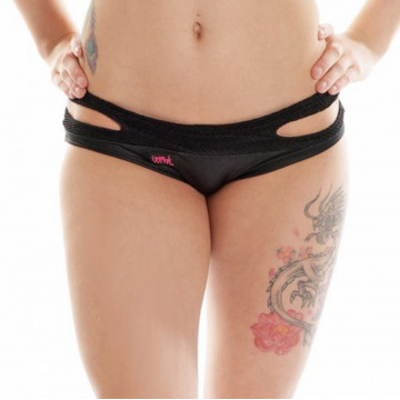 WINK Short WETLOOK GRIP SPLIT MICRO SHORTS W0129