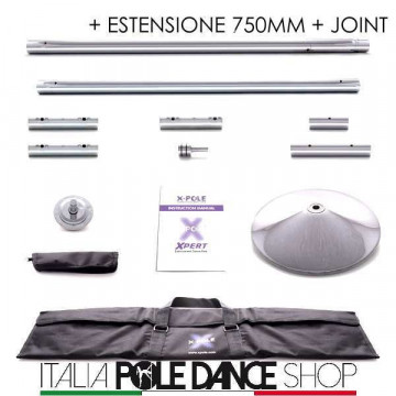X-Pole X-PERT CROMO | Spin\statico + J + ext 750mm