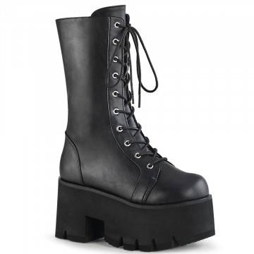 Demonia ASHES-105 Blk Vegan Leather