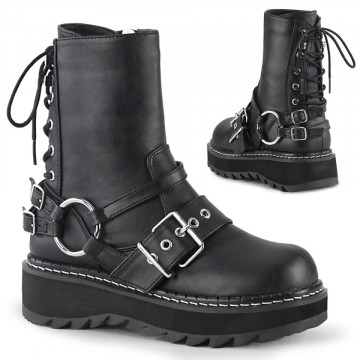 Demonia LILITH-210 Blk Vegan Leather