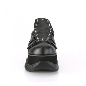 Demonia NEPTUNE-50 Blk Vegan Leather-Fabric