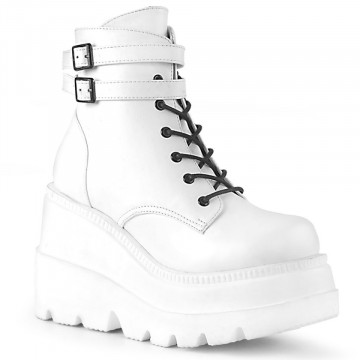 Demonia SHAKER-52 Wht Vegan Leather