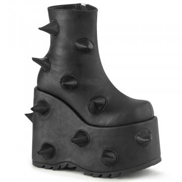 Demonia SLAY-77 Blk Vegan Leather