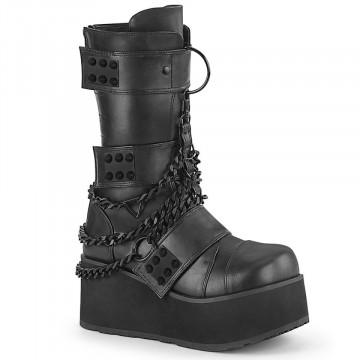 Demonia TRASHVILLE-138 Blk Vegan Leather
